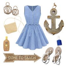 Beachy and Preppy by aegreen23 on Polyvore featuring polyvore, fashion, style, Abercrombie & Fitch, H&M, Sun Bum, Essie and Creative Co-op