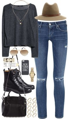 styleselection: outfit for autumn by im-emma featuring skinny jeans