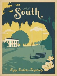 the south swinging under the magnolia