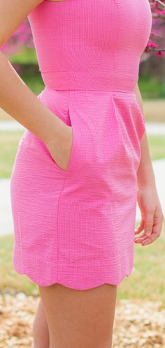 Love this pink dress.