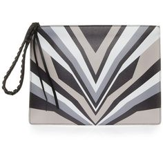 Shop ELENA GHISELLINI Liz Printed Pouch at Modalist found on Polyvore featuring women's fashion, bags, handbags, clutches, pouch purse, pouch handbag and elena ghisellini