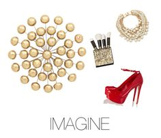 """""""Imagine"""" by medwin on Polyvore featuring Schutz, Kate Spade and Universal Lighting and Decor"""
