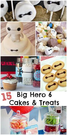 15 Big Hero 6 cake ideas and treats 6th Birthday Parties, Diy Birthday, Birthday Ideas, Third Birthday, Birthday Cakes, Disney Inspired Food, Disney Food, Disney Recipes, Baymax