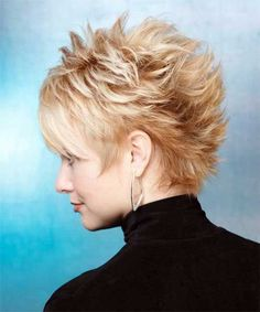 Stunning Short Straight Spiked Haircuts