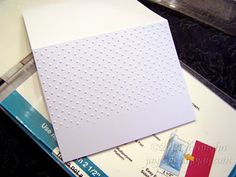 How to partial emboss with embossing folders. also has links on the blog for diagonal embossing and how to make your own shapes