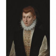 Follower of Sofonisba Anguissola Woman in a Small Ruff Oil on canvas 26 1/4 x 21 inches (66.6 x 53.3 cm)