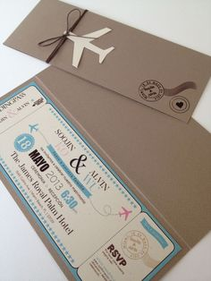 Cruise Boarding Pass Invitations