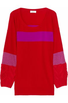 Sonia by Sonia Rykiel|Chunky-knit paneled wool and cashmere-blend sweater