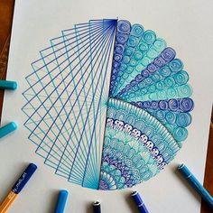 Doodle Art Drawing, Zentangle Drawings, Mandala Drawing, Zentangle Patterns, Zentangles, Art Drawings Beautiful, Art Drawings For Kids, Colorful Drawings, Mandala Art Lesson
