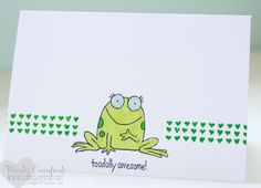 you're sublime stampin up frog stamp