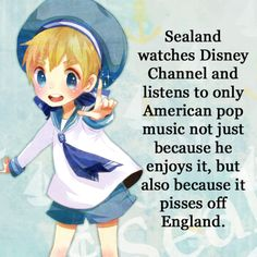 Sealand...Watch out England! He's another young America! Of course, that would be hilarious if Sealand officially declared his independence and moved away lol! :D #Hetalia