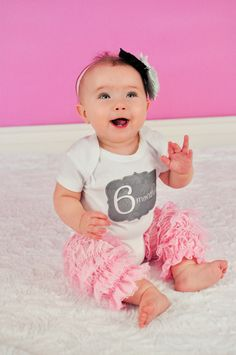 Monthly Onesie Baby Stickers - Marley - Trendy Pink, Gray, and Black - Great Baby Shower Gift and Photo Prop Baby Month Stickers. $9.00, via Etsy.