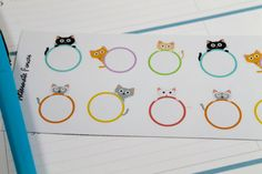NEW Peek-a-boo Cat List Planner Stickers by AlternateForces $3.00