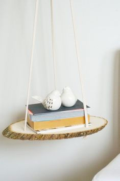 DIY A Hanging Wood Shelf Hang