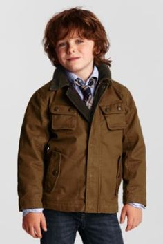 Boys' Insulated Barn Jacket from Lands' End