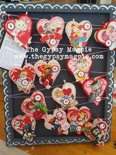 Valentine Treats, Valentine Day Crafts, Vintage Valentines, Be My Valentine, Holiday Crafts, Valentine's Day Paper Crafts, Diy Crafts, Heart Decorations, Valentine Decorations
