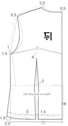 여자 무령의 : 네이버 블로그 Line Chart, Sewing, Pattern, Craft, Dressmaking, Couture, Creative Crafts, Stitching, Patterns