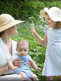 Victoria van Zweden Met dochter en zoon
