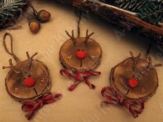 Reindeer - make from orange slices or wood circles ---