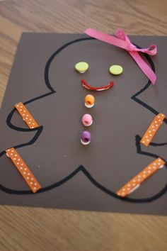 Toddler Approved!: Gingerbread Man Collage Craft