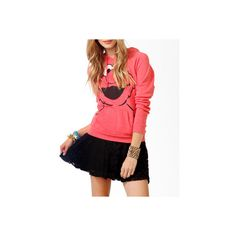 FOREVER 21 Elmo Print Pullover Hoodie ($25) ❤ liked on Polyvore