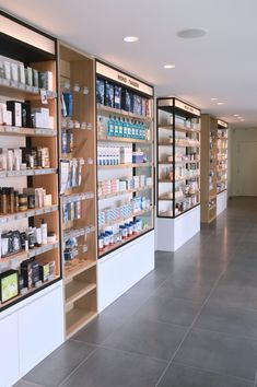 Supermarket Design, Retail Store Design, Aquarium Shop, Pharmacy Store, Pharmacy Design, Retail Shelving, Salon Interior Design, Cosmetic Shop, Bakery Design