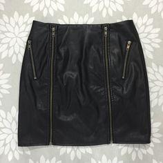 HPLF Double Zipper Leather Skirt NWT Brand new! Super cute skirt with zipper details. It's a perfect going out skirt! Wardrobe Goals HP 2/21 LF Skirts Mini