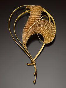 Brooch | Mary Lee Hu. Eighteen and twenty-two karat gold