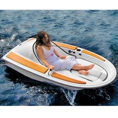 The One-Person Electric Watercraft. $3,500.00 This is the electric watercraft that provides effortless waterborne excursions for one person for up to six hours. The watercraft's 12-volt electric motor drives its two-bladed propeller, providing leisurely 4-mph cruises over calm lakes or ponds, ideal for accessing secret swimming holes, fishing spots, or visiting neighboring docks.