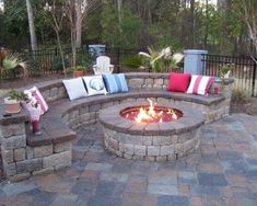 garden design, Traditional Outdoor Round Patio Fire Pits Remodelling: backyard patio ideas and design in small and large space #outdoorideasseating