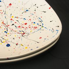 Paint splatter plates DIY Dishwasher and food safe!!