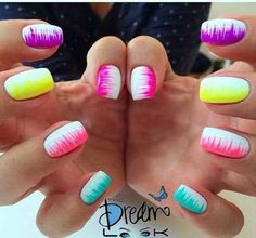 Cool 46 Wonderful Easy Spring Nail Designs For Short Nails. More at https://outfitsbuzz.com/2018/05/07/46-wonderful-easy-spring-nail-designs-for-short-nails/