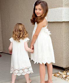 White Flower Eyelet Dress