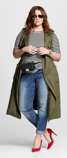 PLUS SIZE WOMEN'S CITY CHIC FAUX SHEARLING FRONT CARDIGAN. A long, open cardigan takes on wild and woolly flair with an oversized shawl collar and front panels cut from soft and cozy faux shearling. affiliate link