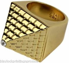 Black Scale Pyramid Ring Gold BLVCK SCVLE ASAP VSVP Funeral Silence Illegal | eBay