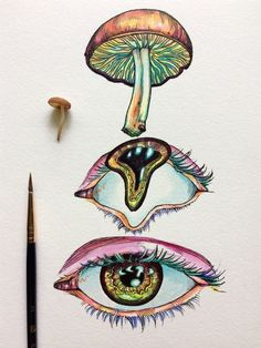 Discover recipes, home ideas, style inspiration and other ideas to try. Trippy Drawings, Psychedelic Drawings, Art Drawings Sketches, Hippie Painting, Trippy Painting, Hippie Drawing, Mushroom Drawing, Mushroom Art, Metamorphosis Art