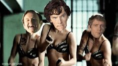 If it wasn't for Mycroft's face in the background, dignity would not have allowed me to Pin this.... (GIF)