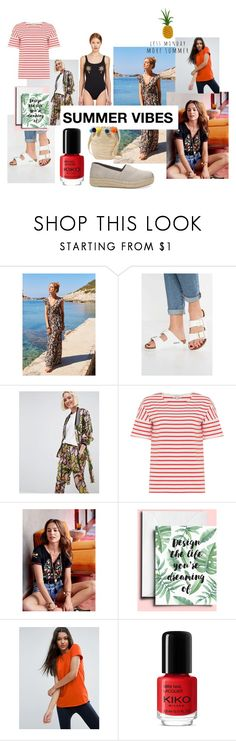 """summer vibes"" by thebluebirdkitchen on Polyvore featuring moda, TOMS, Birkenstock, ASOS e Muzungu Sisters"