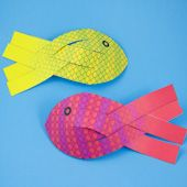 Paper Fish - Recipes to cook - Origami Fish Paper Craft, Paper Towel Roll Crafts, Paper Plate Crafts, Ocean Crafts, Fish Crafts, Cute Crafts, Craft Activities For Kids, Crafts For Kids, Arts And Crafts