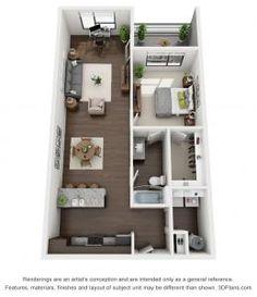 Apartment Layout, Apartment Interior, Apartment Design, Room Interior, Studio Floor Plans, House Floor Plans, Modern House Plans, Small House Plans, Dorm Design