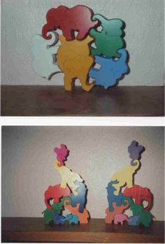Stacking elephants - Scroll Saw Woodworking & Crafts Photo Gallery