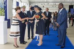 May 20, 2016, Queen Maxima of The Netherlands baptizes the cruise ship MS Koningsdam from Holland America Line at the ceremony, held at the harbour of Rotterdam.
