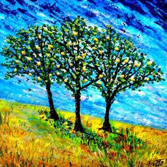 """Buy Springtime in Andaluthia IV ( Large 30"""" x30"""" -76cm x 76cm), Acrylic painting by Paul J Best on Artfinder. Discover thousands of other original paintings, prints, sculptures and photography from independent artists."""