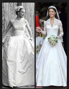 Brudklänning med lång ärm och stor kjol. Jag älskar Grace  Kelly's klänning.