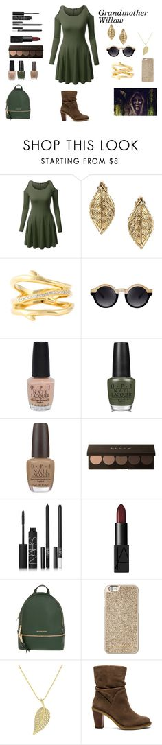 """Grandmother Willow"" by crystalgems125 ❤ liked on Polyvore featuring ASOS, Shaun Leane, OPI, NARS Cosmetics, MICHAEL Michael Kors, Michael Kors, Jennifer Meyer Jewelry and Vince Camuto"