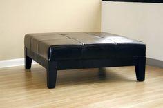 modern black ottoman coffee table Leather Ottoman Coffee Table