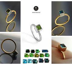 złoty pierścionek : bizoe.pl