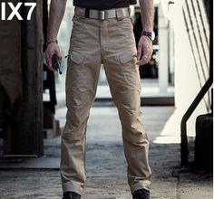 IX7 Men Army Combat Cargo Pants Cotton Military City Tactical Pants Mens Multi Pocket Pants Casual SWAT Soldier Train Trousers