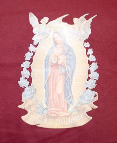 Virgin of Guadalupe Spanish Christian T-Shirt Small Medium Large XL XXL Unisex Mens Womens Tee by TimeofReason on Etsy