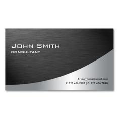 Professional Metal Elegant Modern Plain Black Business Cards. This great business card design is available for customization. All text style, colors, sizes can be modified to fit your needs. Just click the image to learn more!